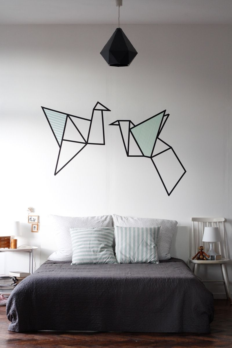 Washi Tape Wall Art With Well Known Imagem De Https://viajandonoape.files (View 19 of 20)