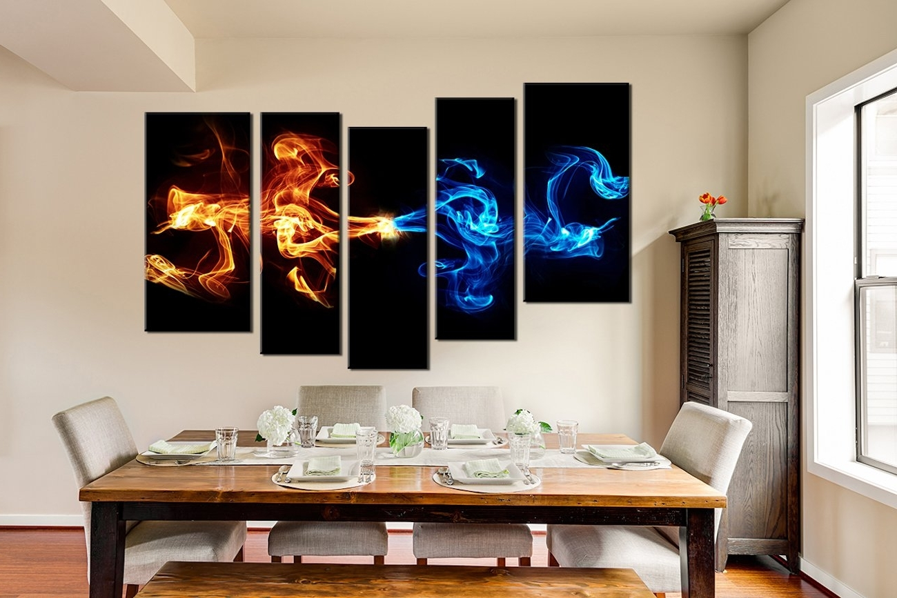 Well Known 5 Piece Canvas Wall Art With Regard To Abstract 5 Piece Smoke Canvas Wall Art » Gadget Flow (Gallery 12 of 20)