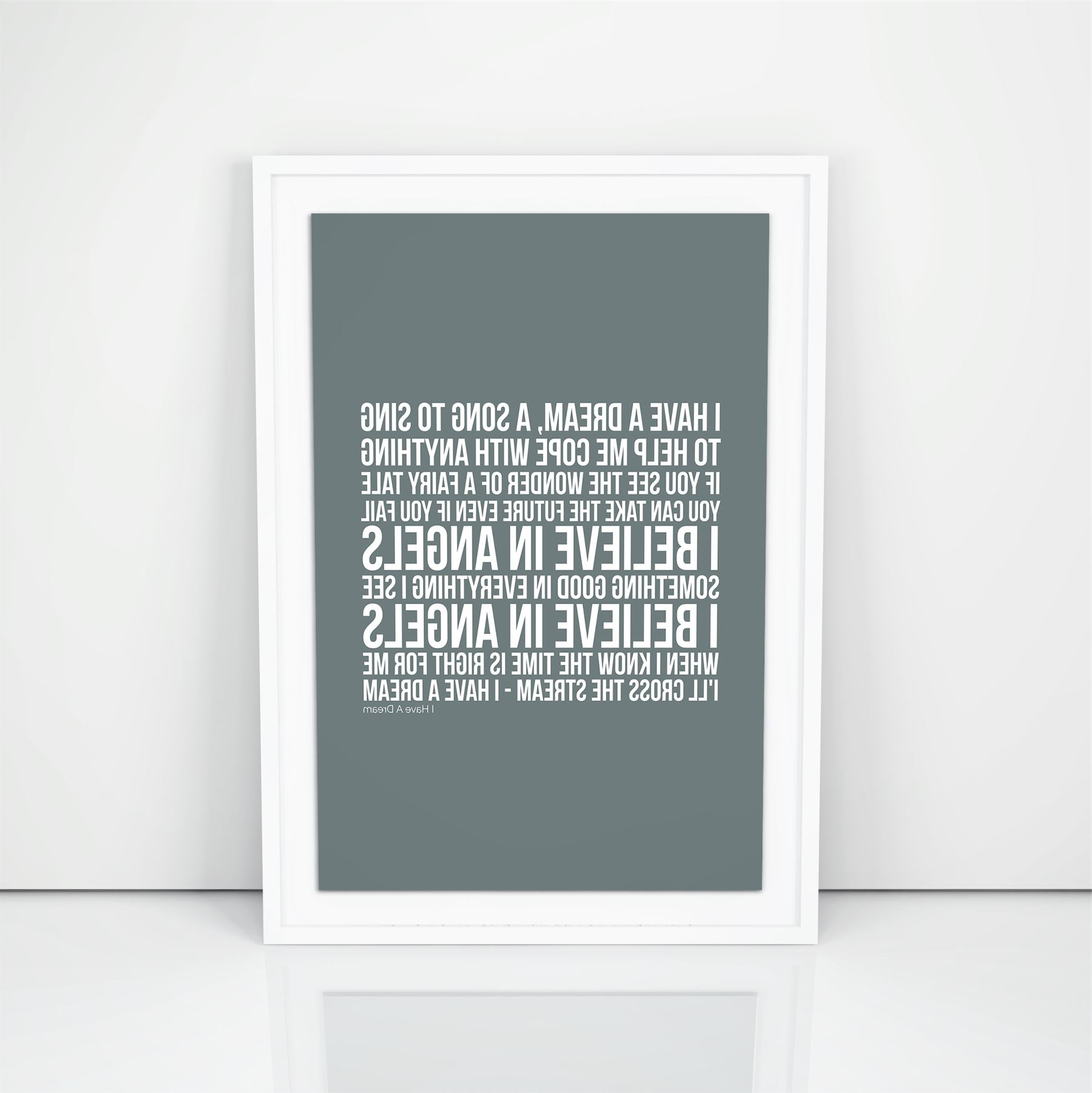 Well Known Abba I Have A Dream Lyrics Wall Art Song A4 A3 Size Picture Modern With Regard To Song Lyric Wall Art (Gallery 14 of 20)