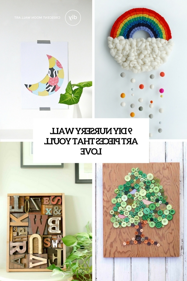 Well Known Baby Room Wall Art Within 9 Diy Nursery Wall Art Pieces That You'll Love – Shelterness (View 16 of 20)