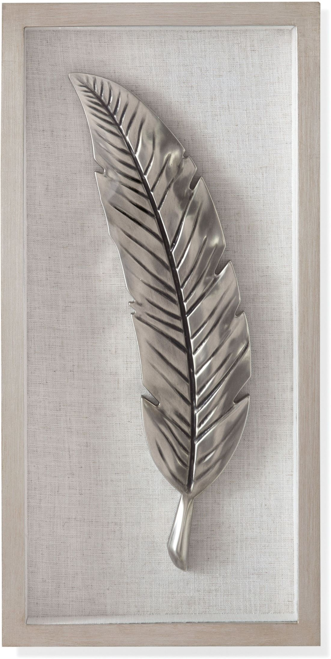 Well Known Bassett Mirror Company Silver And Black Feather Wall Art In Feather Wall Art (View 20 of 20)