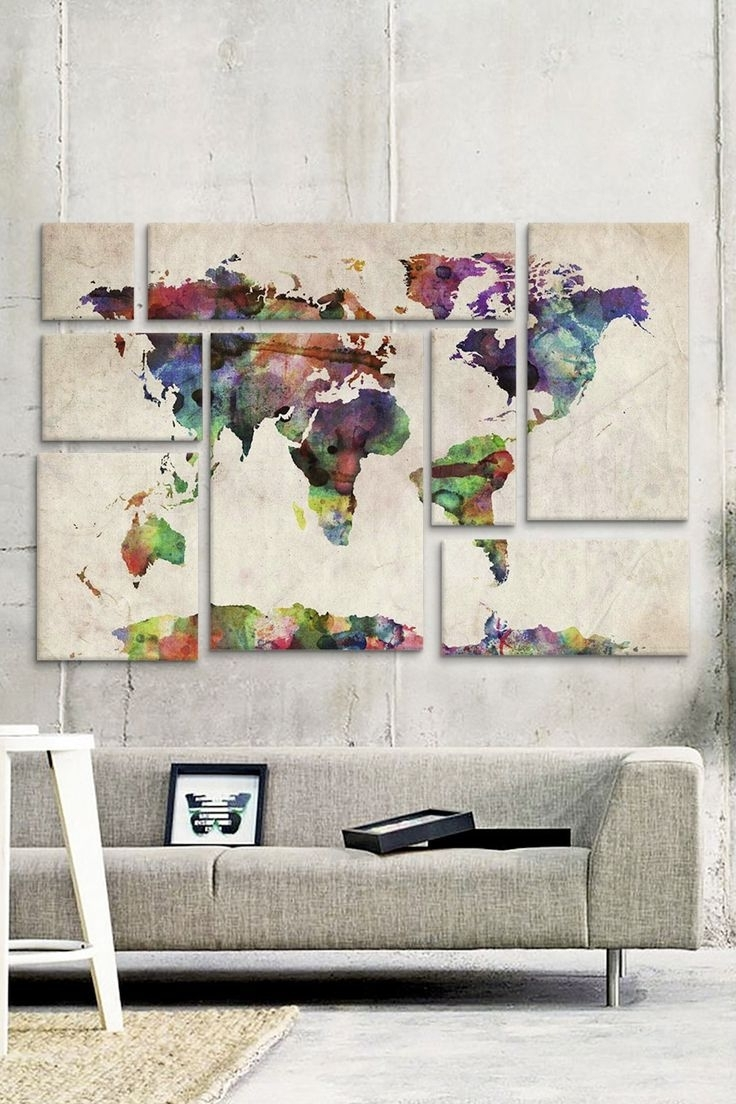 Well Known Best 25 Map Wall Art Ideas On Pinterest Show World For Diy Decor With Regard To Diy World Map Wall Art (View 17 of 20)