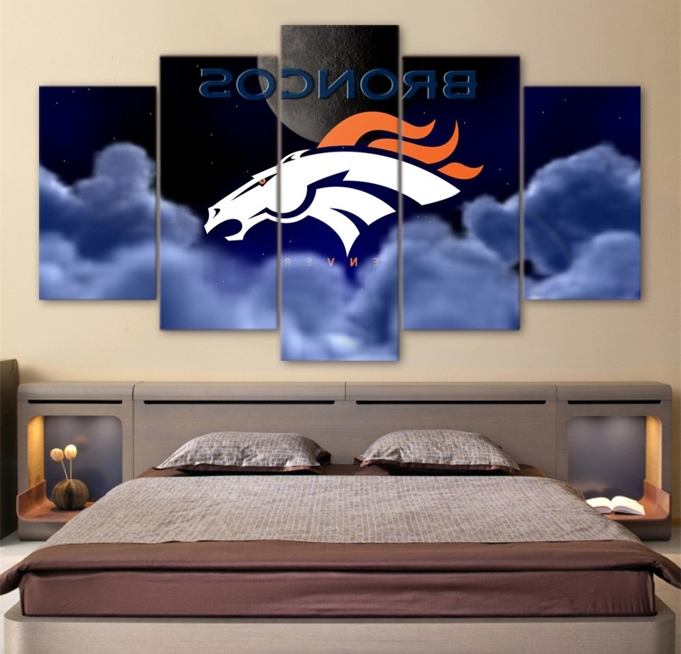 Well Known Broncos Wall Art In Hd Printed 5 Piece Wall Art Home Decor Painting Nrl Rugby Broncos (View 13 of 20)