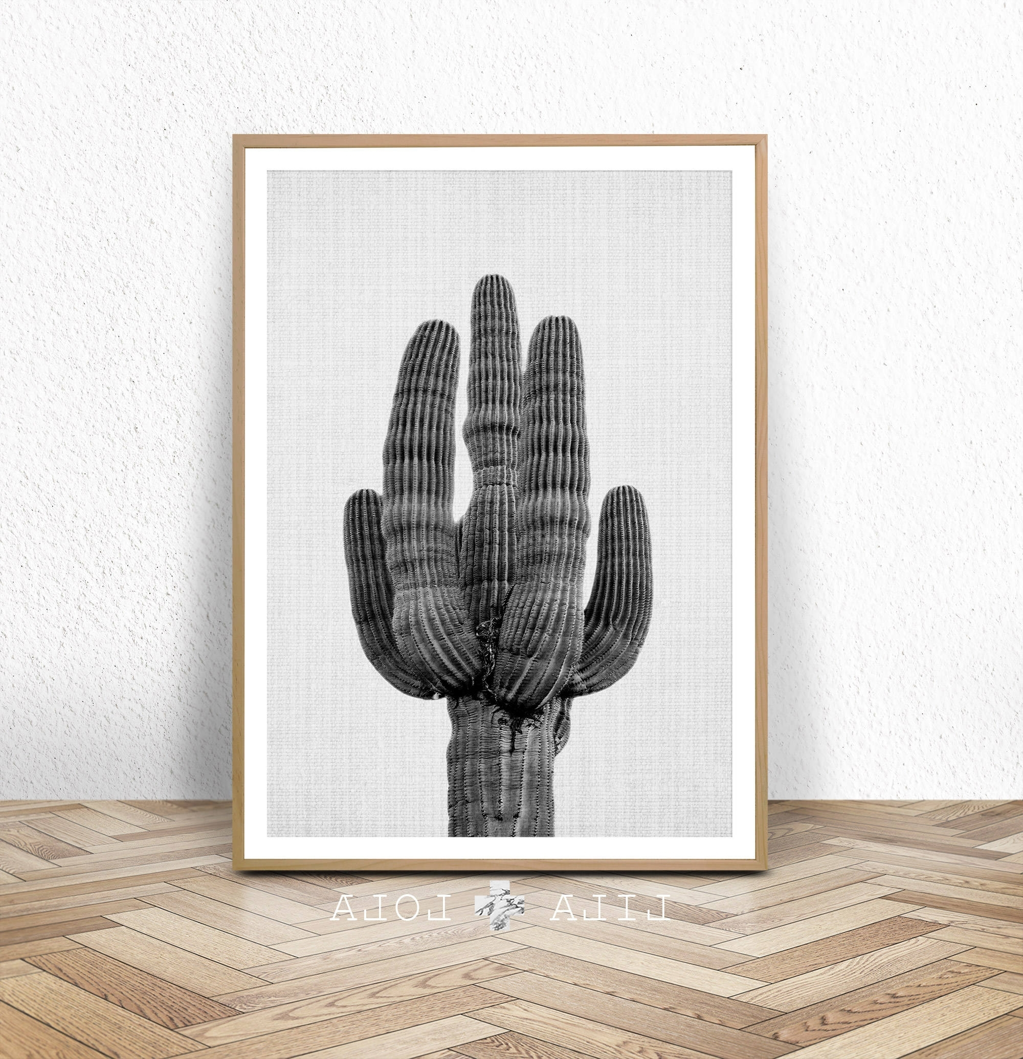 Well Known Cactus Wall Art Within Cactus Print, Black And White Wall Art, Western Decor, Photography (View 19 of 20)