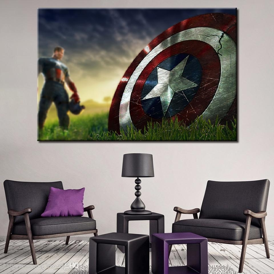 Well Known Captain America Wall Art Pertaining To 2018 Canvas Paintings Wall Art Framework For Living Room Home Decor (View 4 of 15)