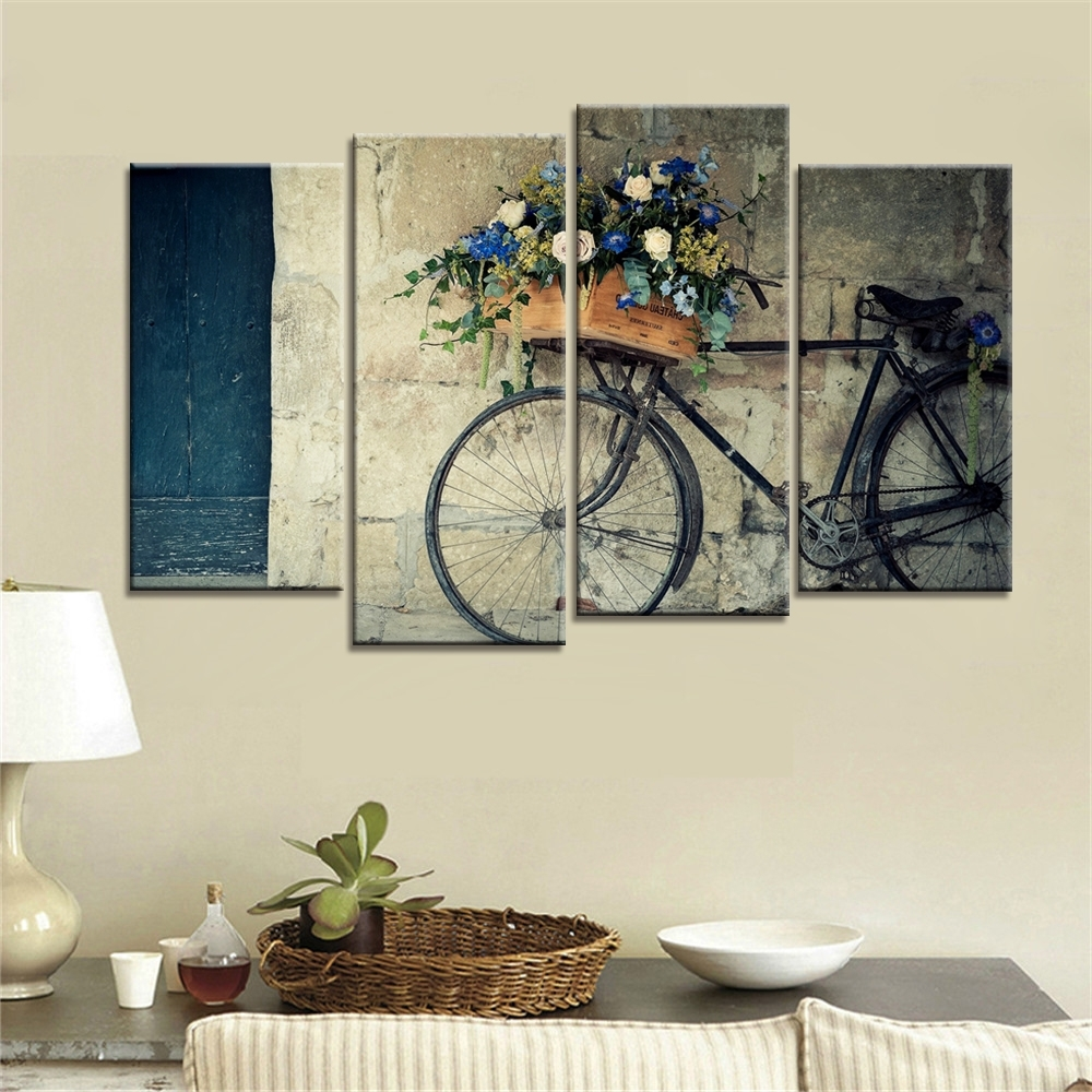 Well Known Cheap Wall Art Throughout 4 Pieces Home Decor Drop Shipping Cheap Wall Art Decorative Painting (View 3 of 15)