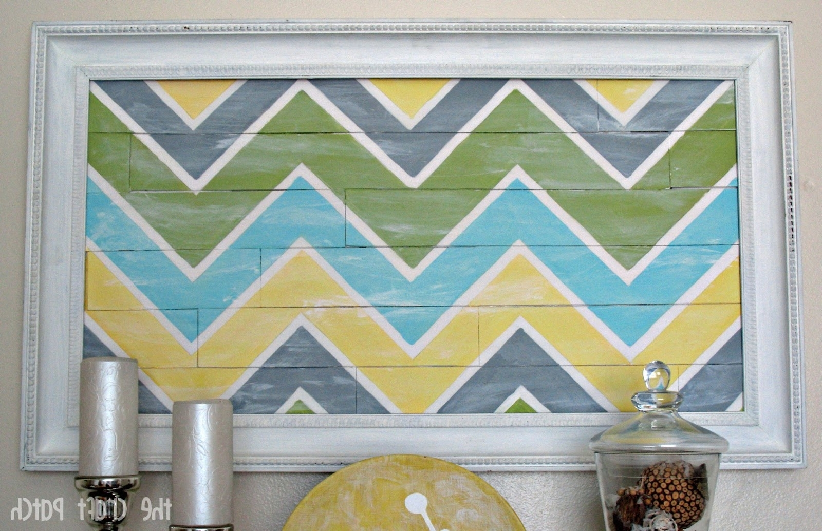 "Well Known Chevron Wall Art Within Chevron ""pallet"" Wall Art – Thecraftpatchblog (View 19 of 20)"