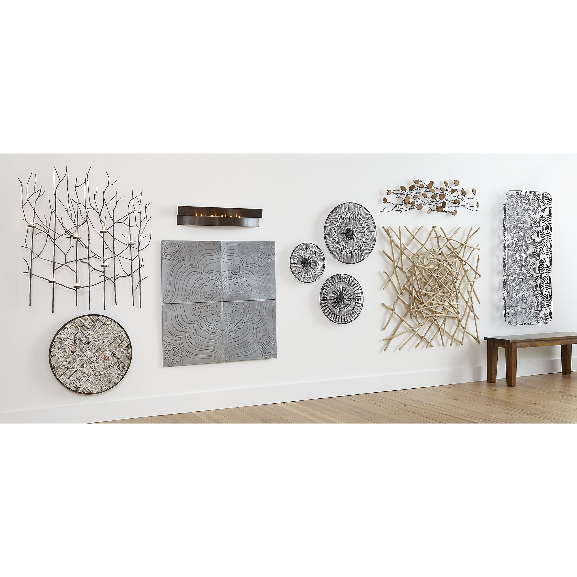Well Known Crate And Barrel Wall Art Regarding Set Of 4 Jacinto Metal Wall Art (View 5 of 20)