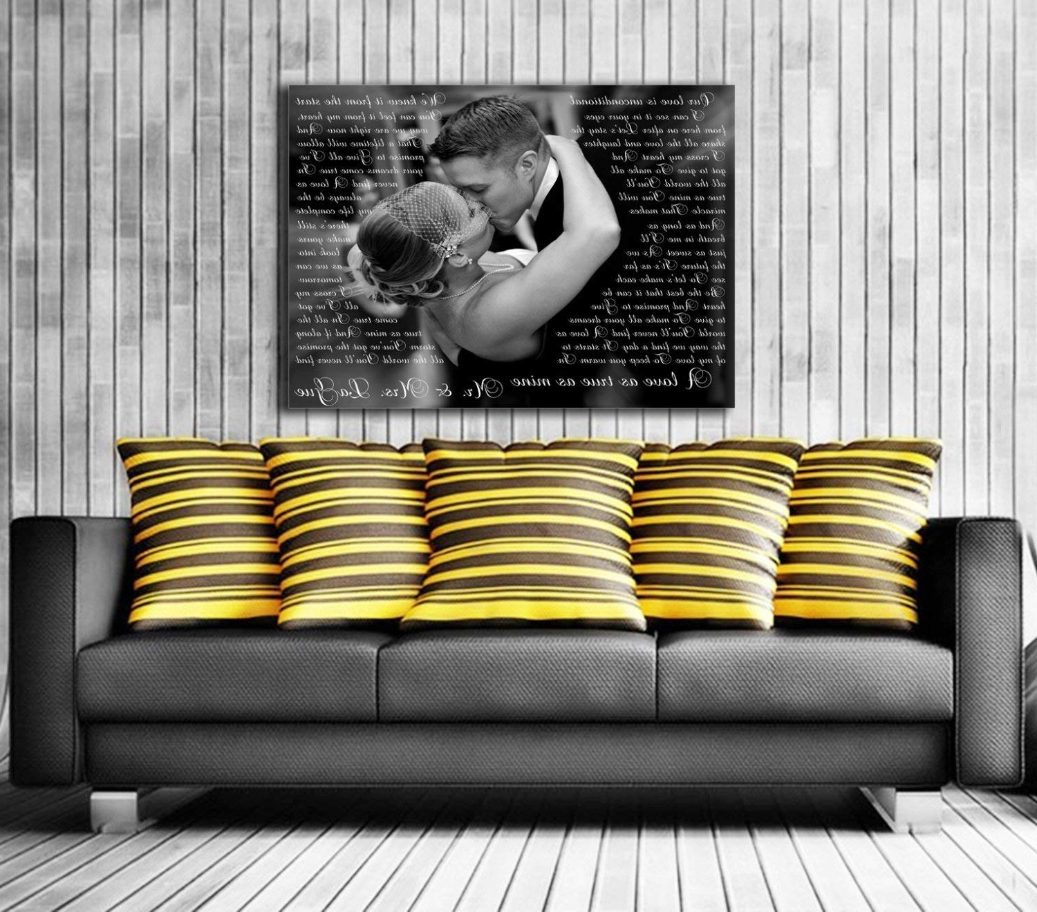 Well Known Custom Wall Art Within Amazon: Song Lyric Art/ Custom Wedding Canvas Print With Love (View 17 of 20)