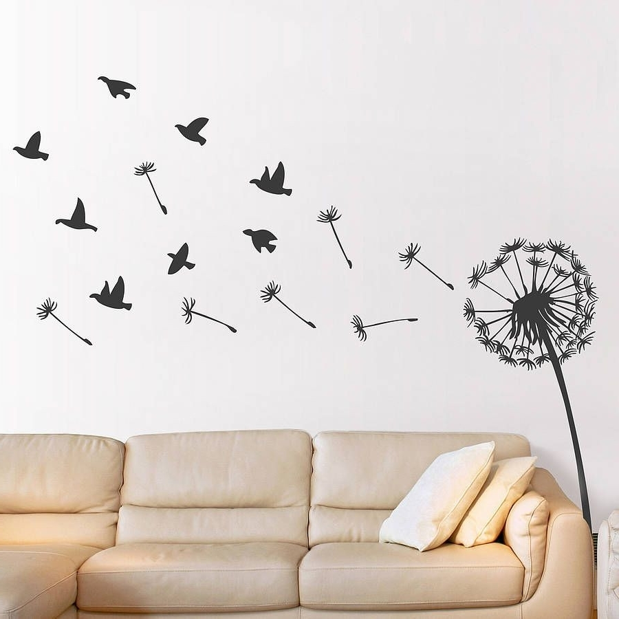 Well Known Dandelion Wall Art Intended For Dandelion Wall Sticker Inspiration Of Dandelion Wall Stickers Of (View 18 of 20)