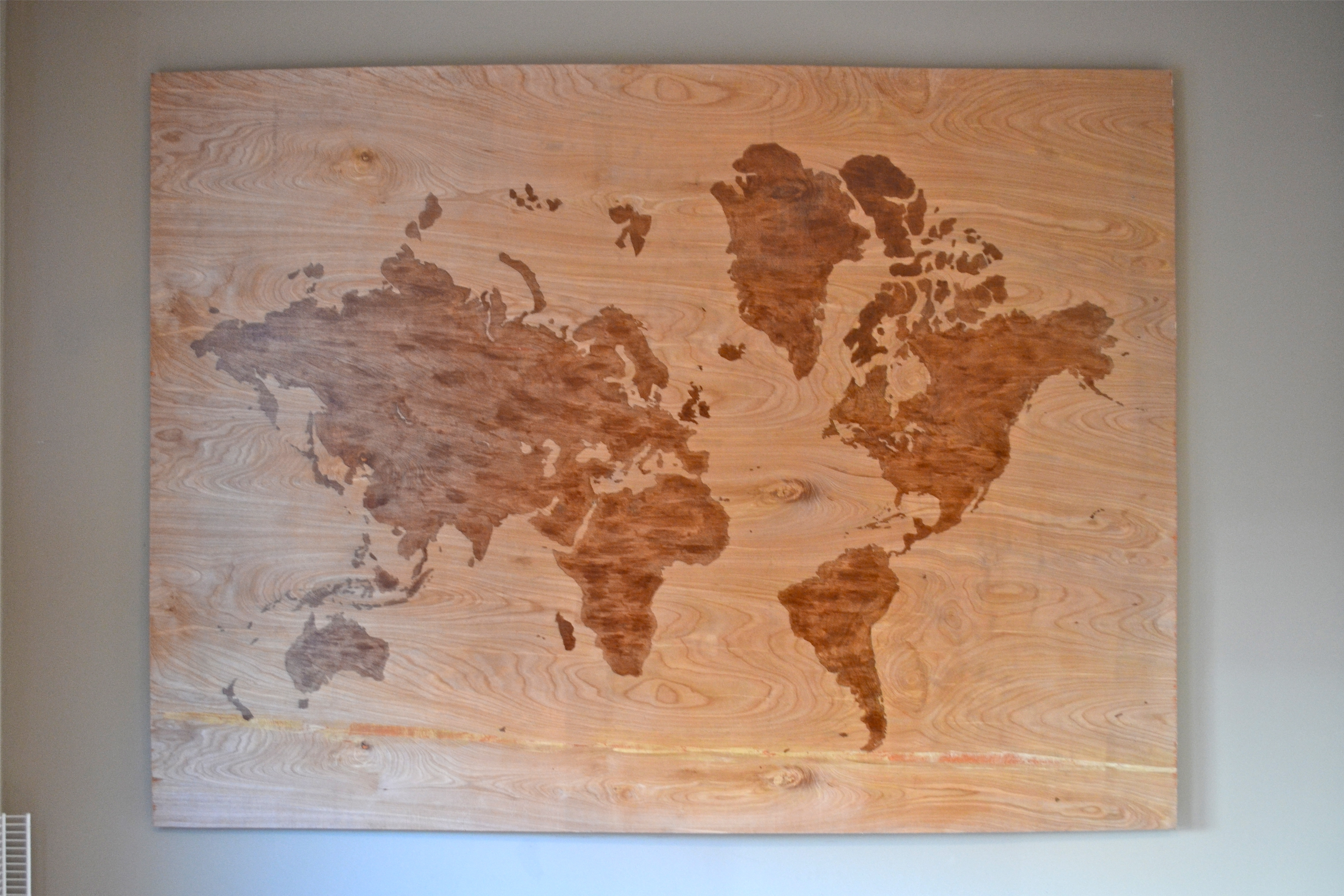 Well Known Diy Wooden World Map Art – A Dash Of Megnut Throughout Diy World Map Wall Art (View 16 of 20)