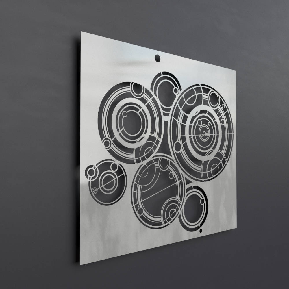 Well Known Doctor Who Gallifreyan Metal Wall Art Panel, Science Wall Art Regarding Doctor Who Wall Art (Gallery 14 of 15)
