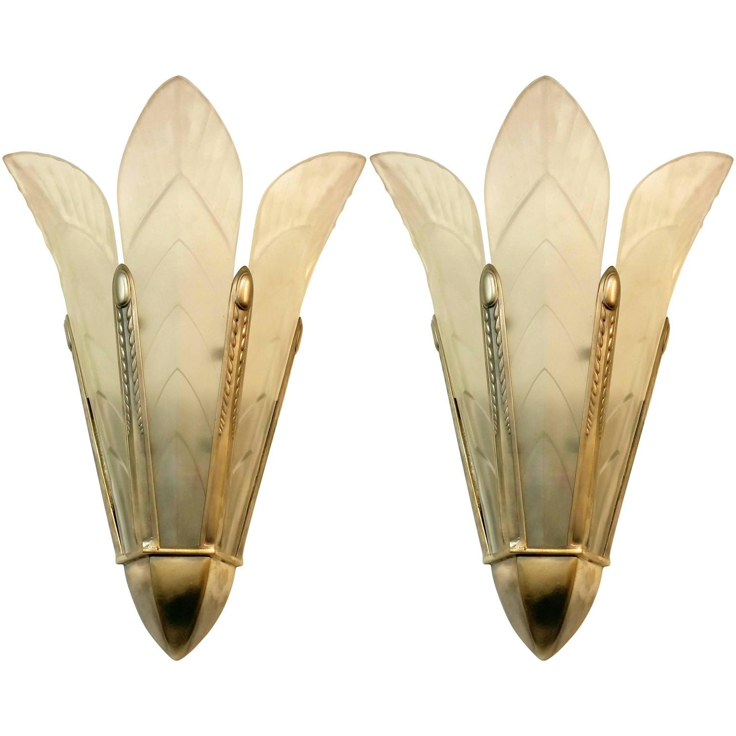 Well Known French Art Deco Wall Sconcessabino For Sale At 1Stdibs Throughout Art Deco Wall Sconces (View 16 of 20)