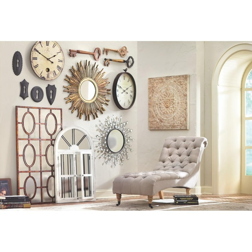 Well Known Home Wall Art Throughout Amaryllis Metal Wall Decor In Distressed Cream 0729400440 – The Home (View 16 of 20)