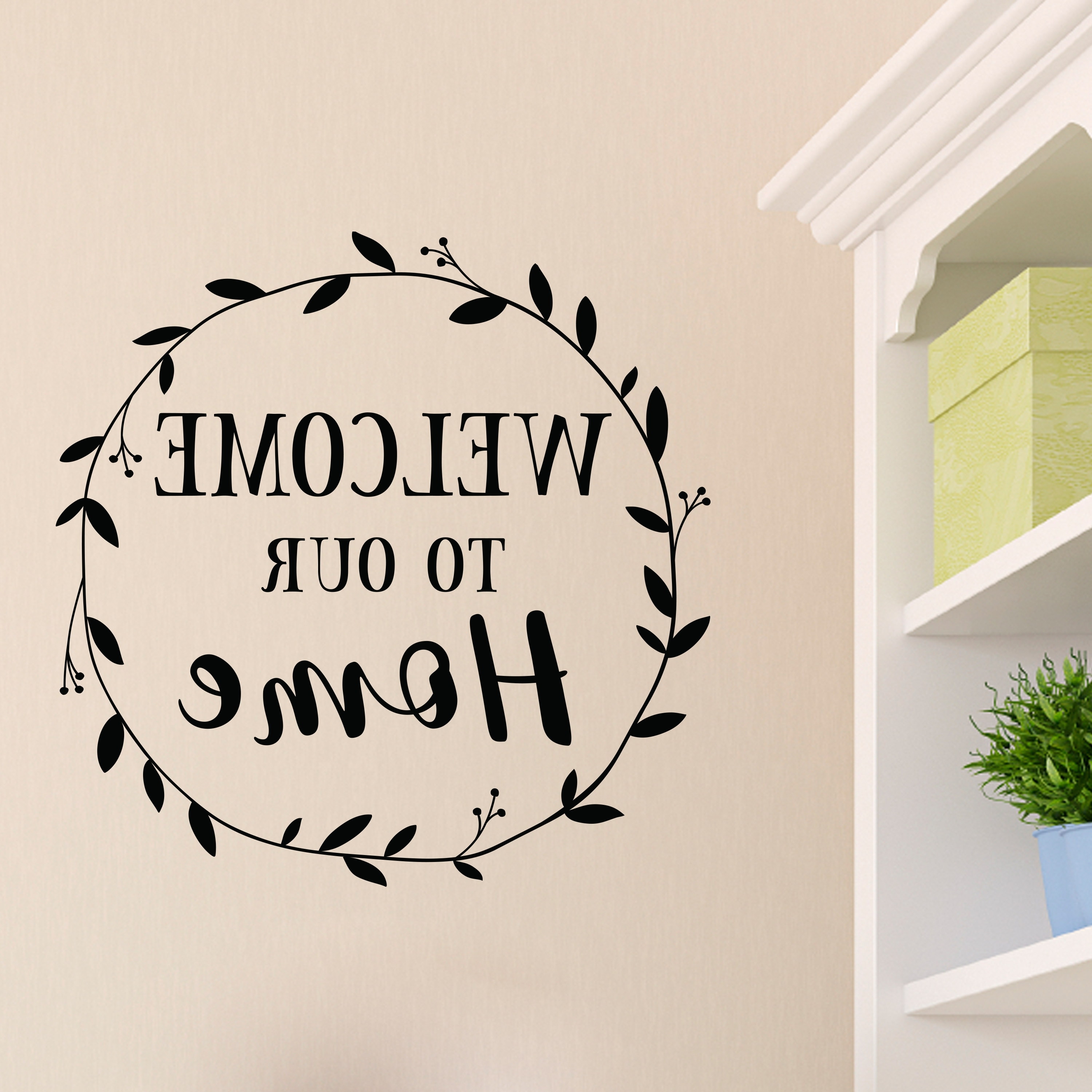 Well Known Home Wall Art With Welcome To Our Home Vinyl Wall Decal, Entry Wall Art, Picture Wall (View 17 of 20)