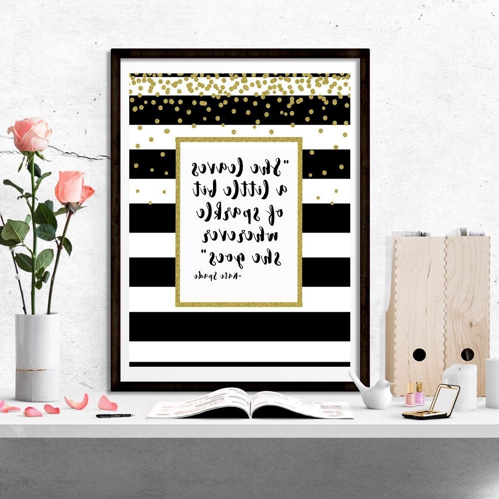"Well Known Kate Spade ""she Leaves A Little Bit Of Sparkle Wherever She Goes Within Kate Spade Wall Art (View 18 of 20)"
