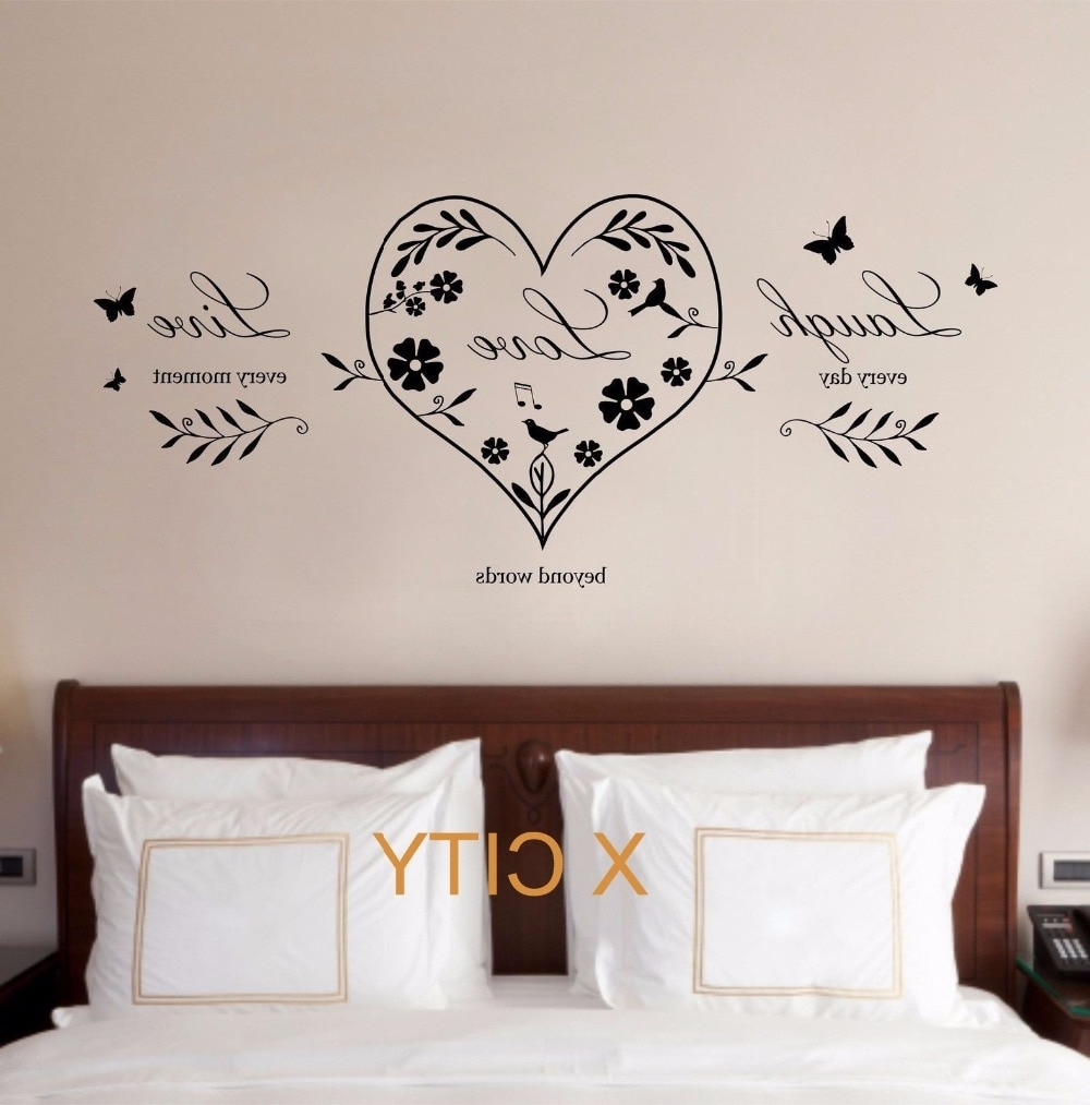 Well Known Live Laugh Love Heart Quote Creative Wall Art Sticker Removable Within Live Laugh Love Wall Art (Gallery 18 of 20)