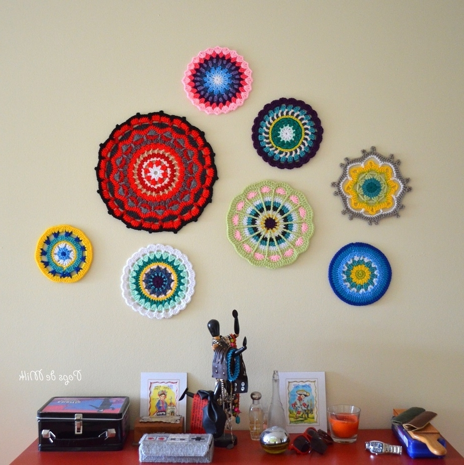 Well Known Mandala Wall Art – Still A Wip – Pops De Milk Inside Crochet Wall Art (Gallery 20 of 20)