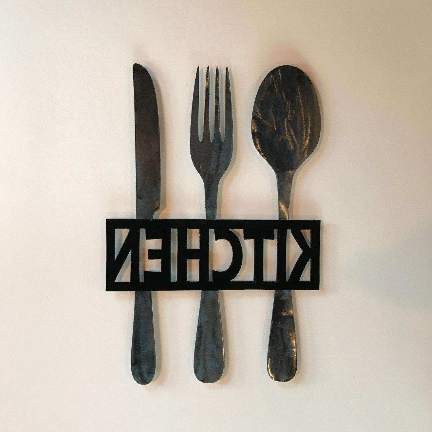 Well Known Metal Fork And Spoon Wall Art New 20 Best Big Spoon And Fork Wall For Fork And Spoon Wall Art (View 20 of 20)