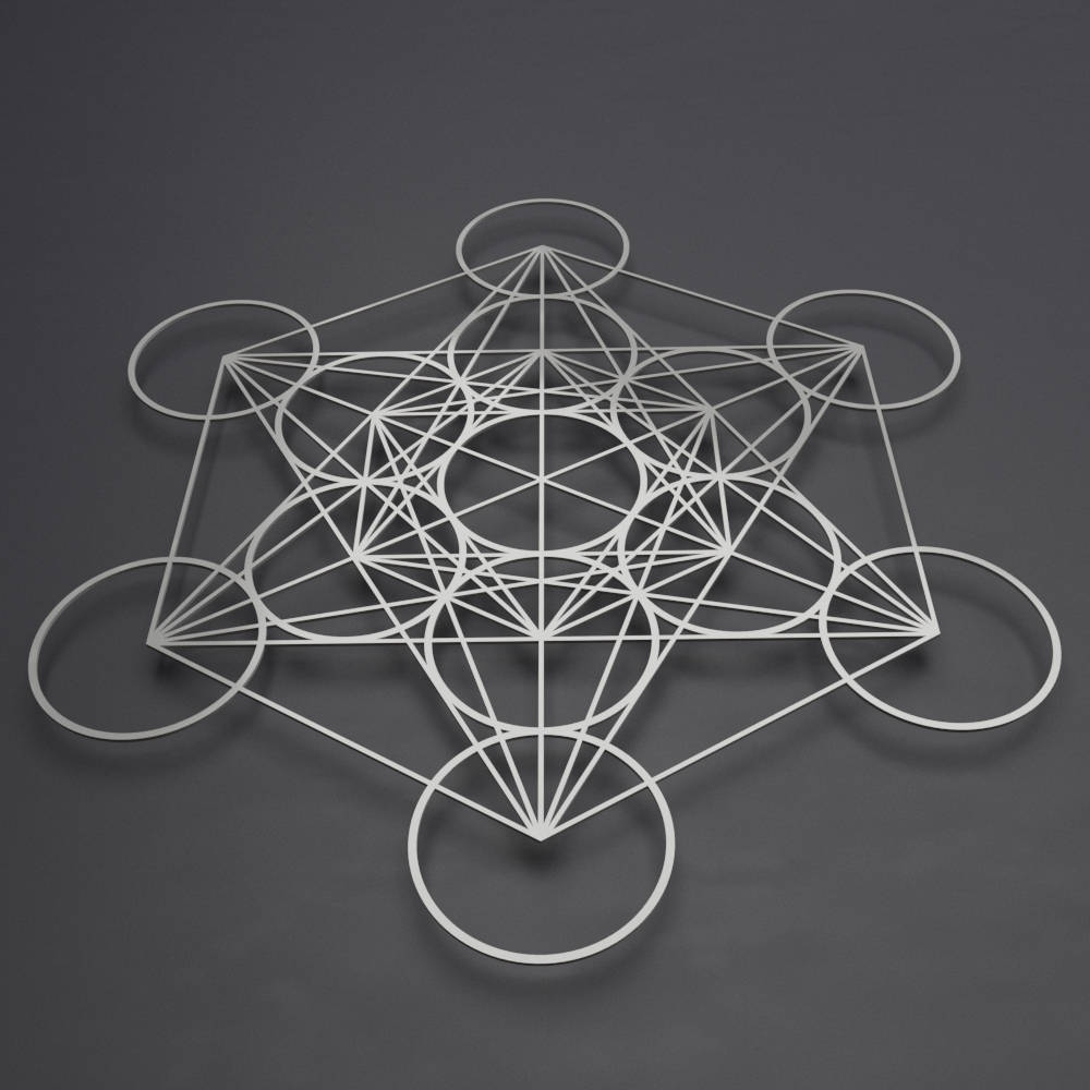 Well Known Metatron's Cube Metal Wall Art, Sacred Geometry Decor, Large Metal For Contemporary Metal Wall Art (View 14 of 15)