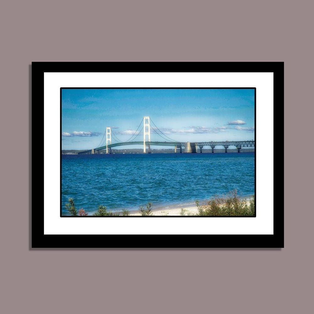 Well Known Michigan Wall Art Within Mackinac Bridge, Michigan Photography, Great Lakes Wall Art, Beach (View 19 of 20)