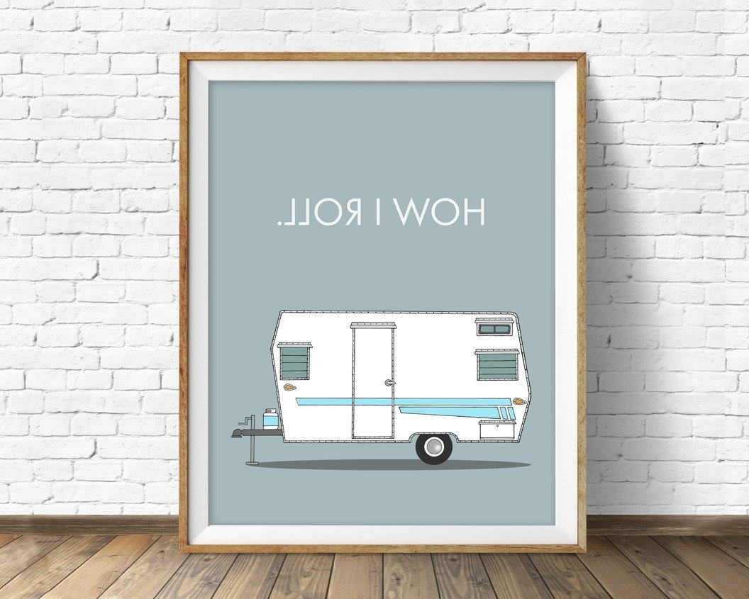 Well Known Mid Century Wall Art For Retro Camper Art Print, Mid Century Modern Wall Art, Large Art (View 7 of 20)
