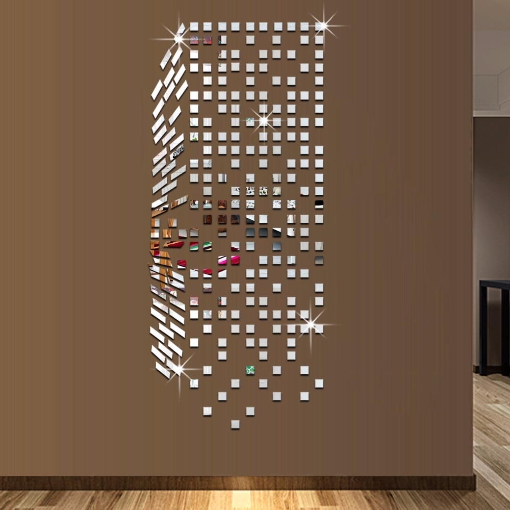 Well Known Mirror Mosaic Background Wall Stickers Home Decor Diy Creative For Mirror Mosaic Wall Art (Gallery 6 of 20)