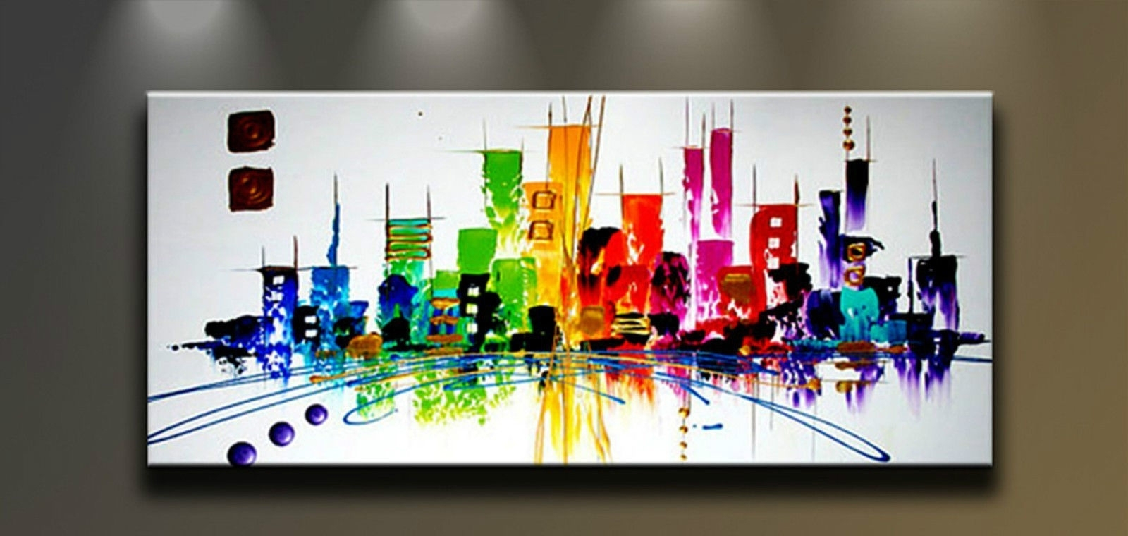 Well Known Modern Painting Canvas Wall Art Within Modern Abstract Hand Painted Art Oil Painting Wall Decor Canvas (Gallery 15 of 20)