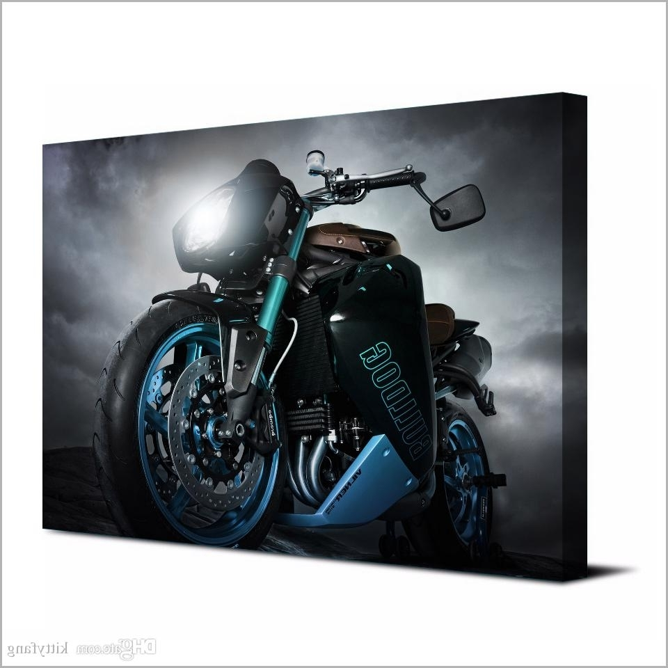 Well Known Motorcycle Wall Art Inside 2018 Canvas Art Poster Angry Motorcycle Hd Canvas Painting Wall Art (Gallery 15 of 20)
