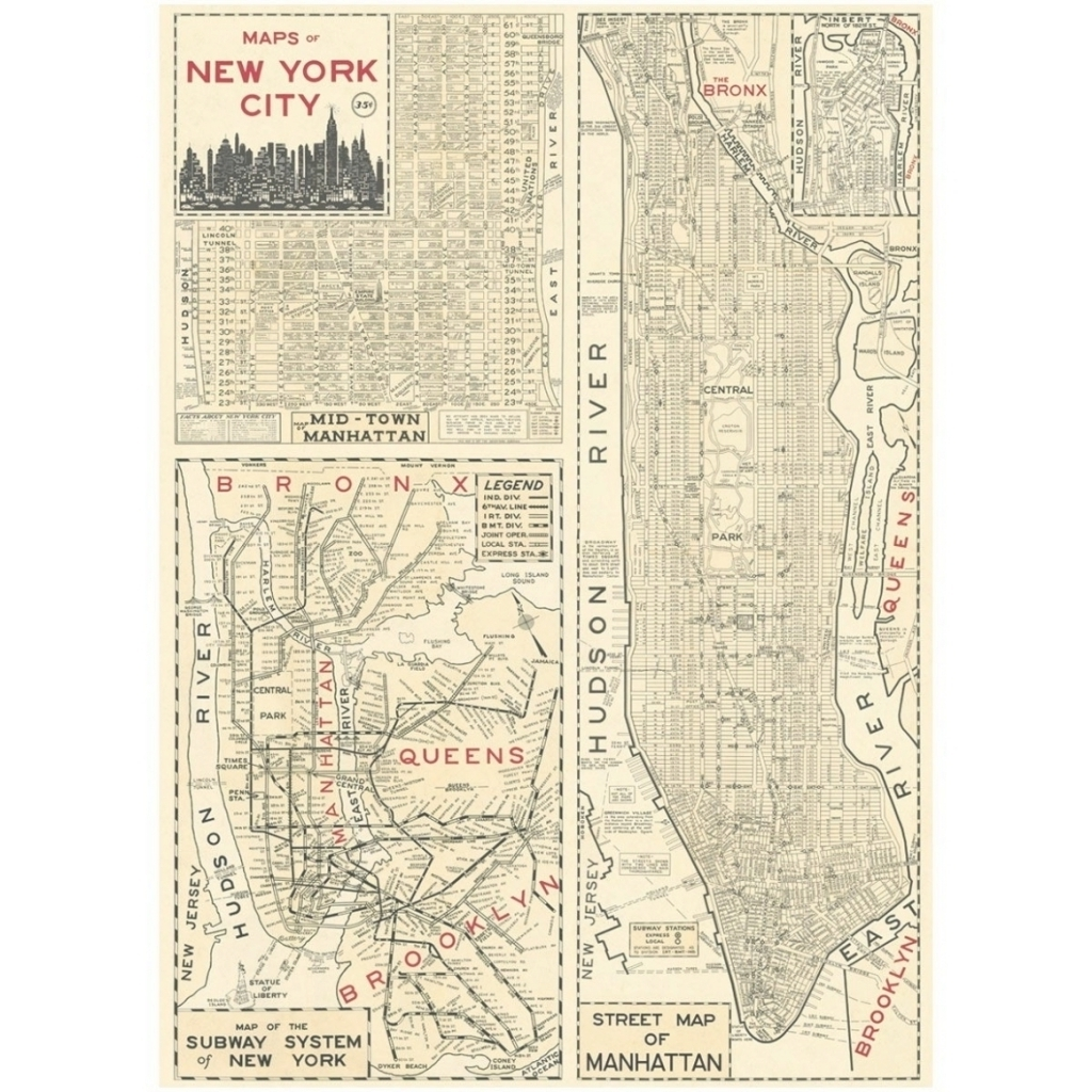Well Known New York Subway Map Wall Art Intended For 45 Collection Of New York Subway Map Wall Art Within Vintage Style (View 18 of 20)
