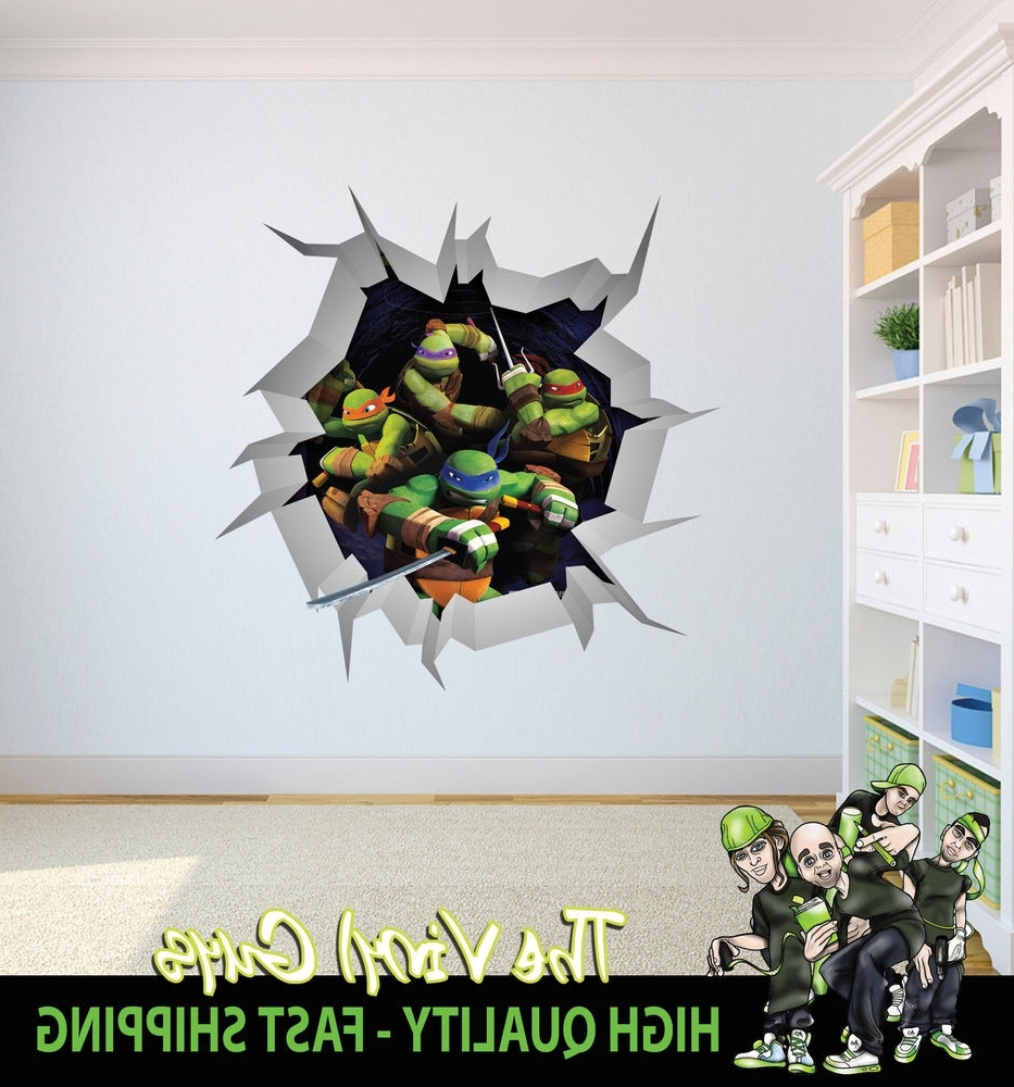 Well Known Ninja Turtle Wall Art Intended For Amazing Ninja Turtle Wall Decor Ornament Art Ideas Dochista Pleasing (Gallery 3 of 20)