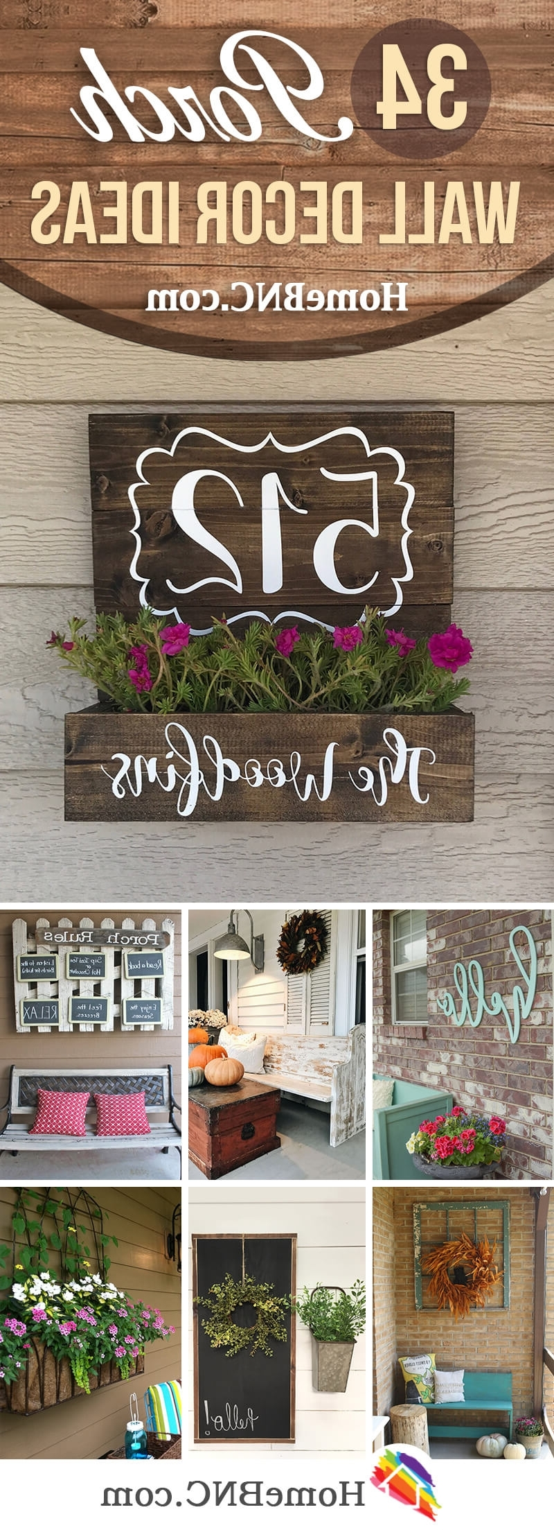 Well Known Outdoor Wall Art Decors With 34 Best Porch Wall Decor Ideas And Designs For (View 14 of 20)
