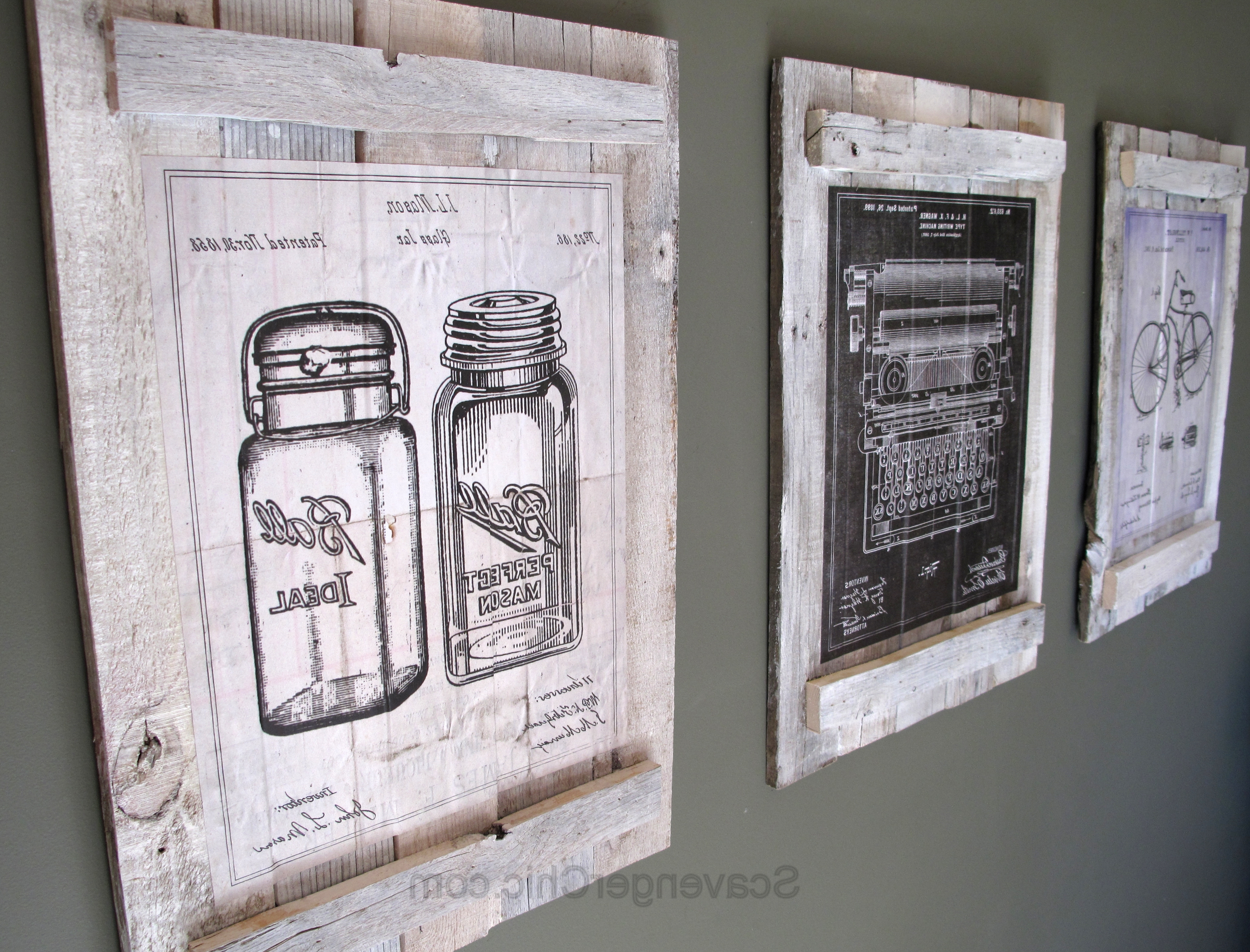 Well Known Pallet Wall Art Intended For Pallets And Calendars Diy Wall Art – Scavenger Chic (View 14 of 15)