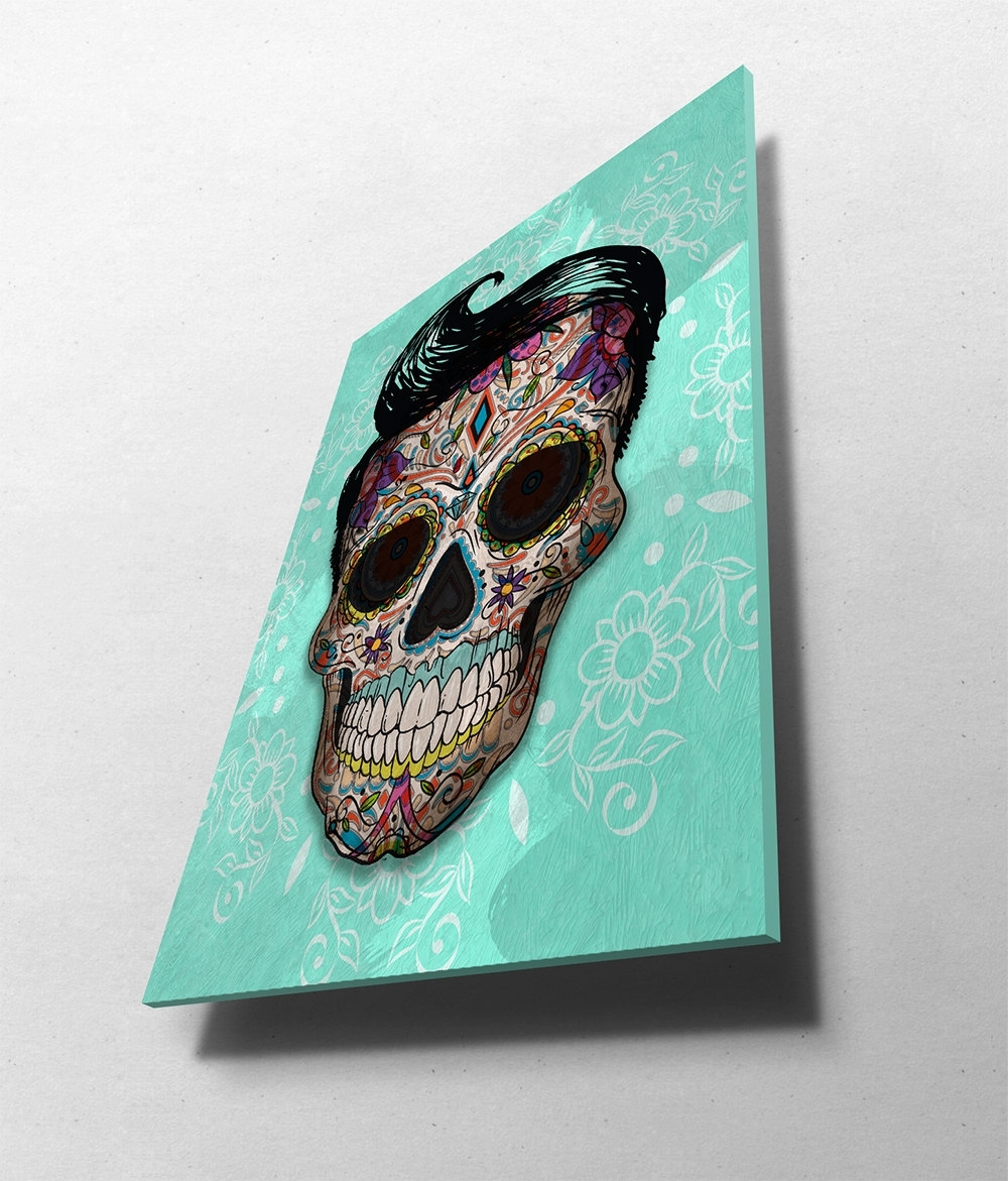 Well Known Paper Wall Art Inside Dia De Los Muertos Mexican Retro Sugar Skull Illustration Art Print (View 19 of 20)