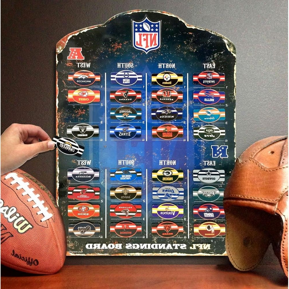 Well Known Party Animal 18.5 In. H X 13.5 In. D Nfl Magnetic Standings Board In Nfl Wall Art (Gallery 4 of 20)
