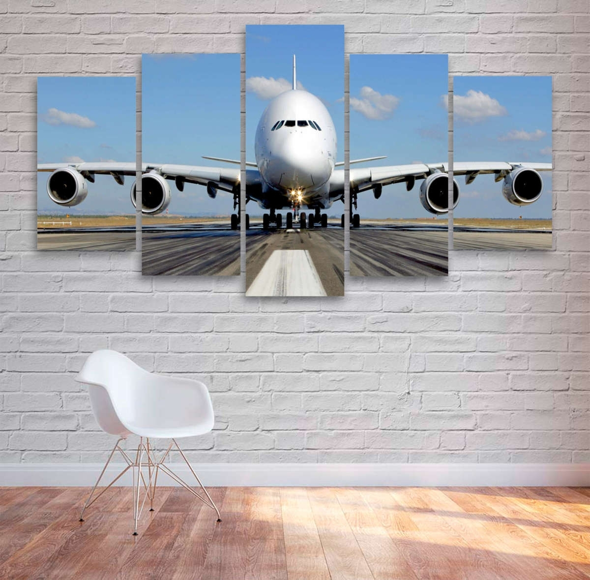 Well Known Passenger Airplane Multi Panel Canvas Wall Art – Mighty Paintings Throughout Aviation Wall Art (View 17 of 20)