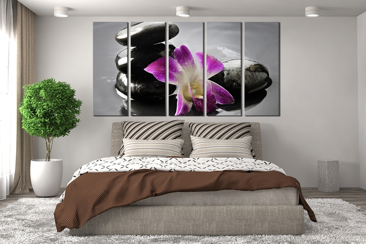 Well Known Purple Canvas Wall Art Large : Andrews Living Arts – Pretty Purple Regarding Wall Art (View 7 of 15)