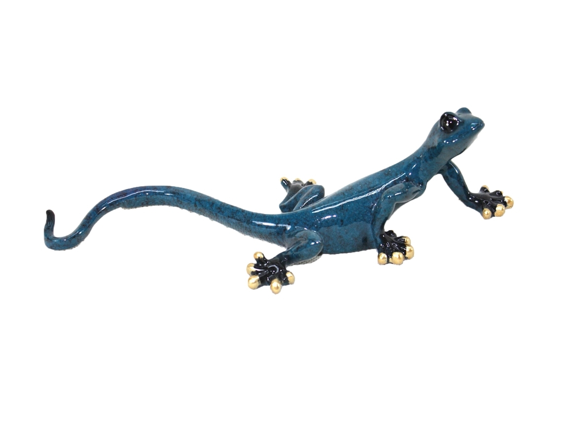 Well Known Resin Wall Art – Small Blue Gecko Intended For Gecko Canvas Wall Art (Gallery 15 of 20)