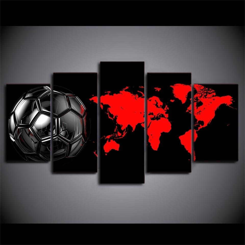 Well Known Soccer Wall Art Regarding Soccer Football Ball Amazing Soccer Wall Art – Wall Decoration Ideas (View 4 of 20)