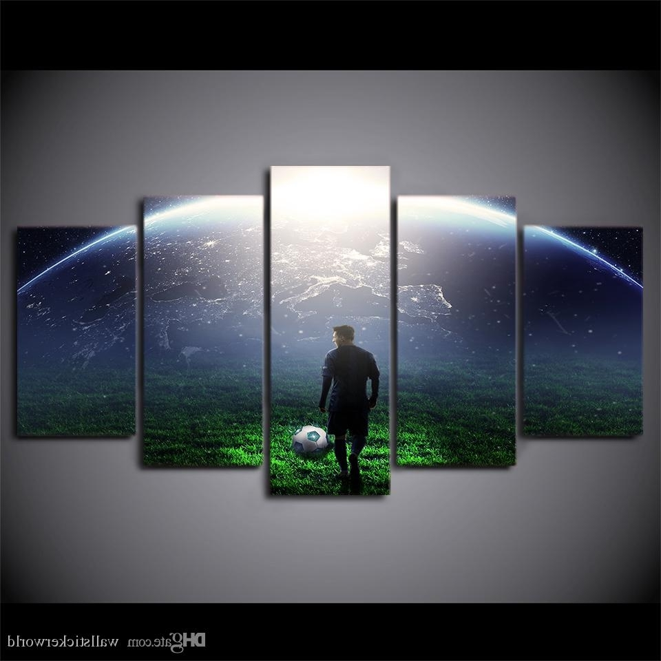 Well Known Soccer Wall Art With Regard To 2018 Hd Printed Canvas Art Soccer Match Painting Aurora Wall (View 17 of 20)