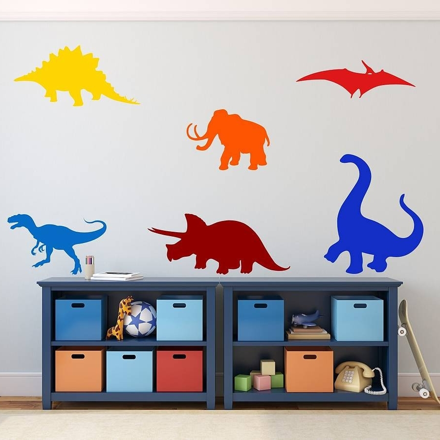 Well Known Stylish Design Dinosaur Wall Art New Trends Dinosaurs Kids Stickers Throughout Dinosaur Wall Art (View 20 of 20)
