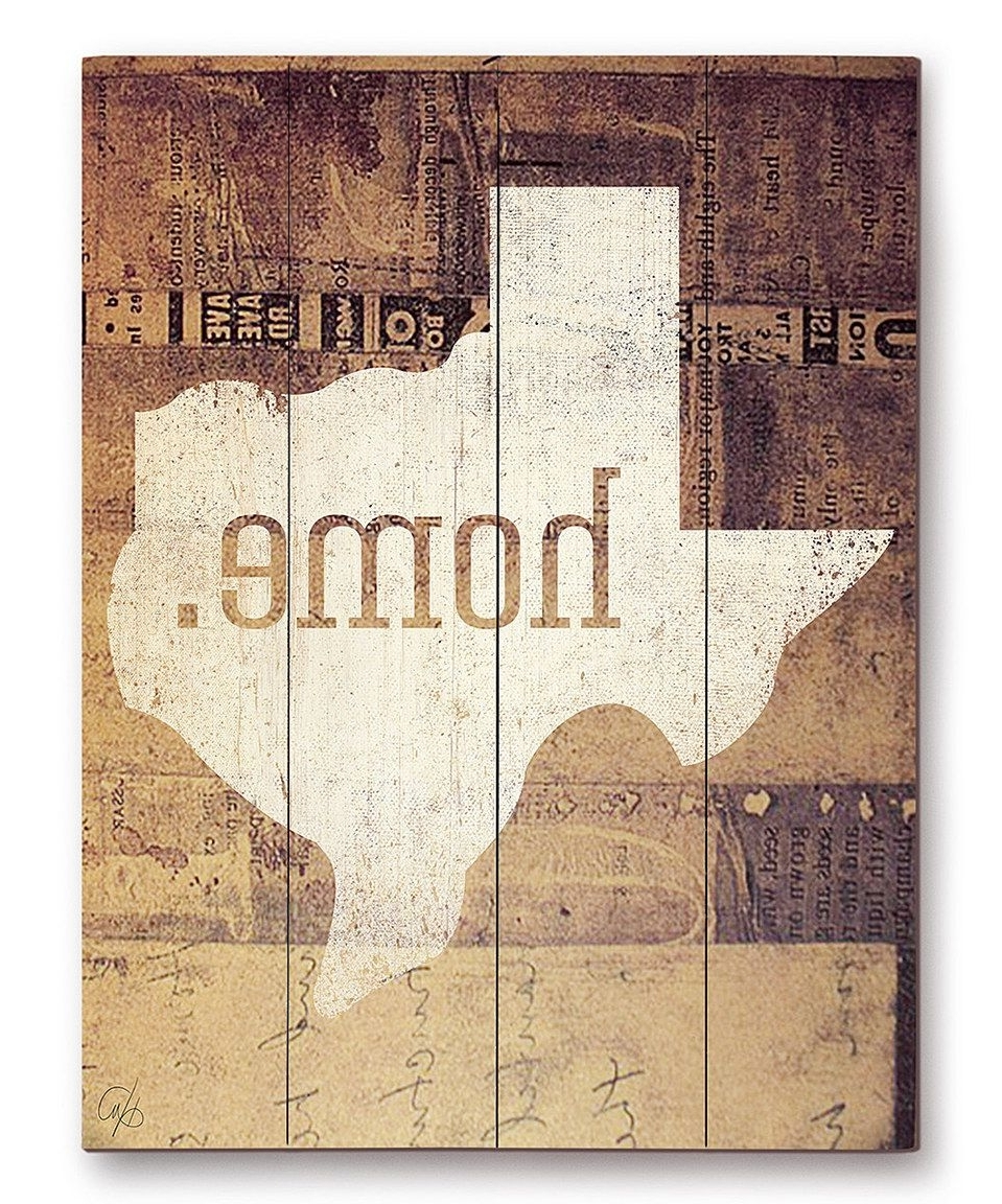 Well Known Texas Wall Art Within Look At This #zulilyfind! 'home' Wall Artimage Canvas (View 19 of 20)