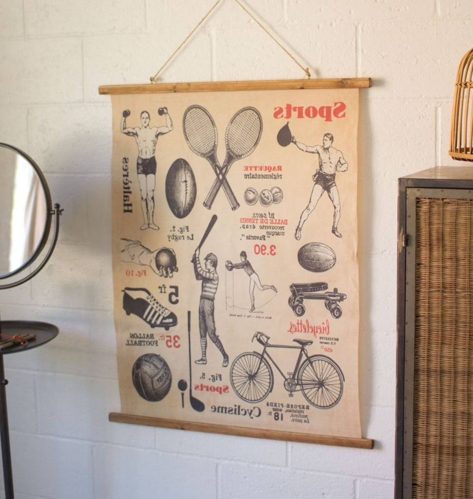 Well Known Vintage Style Sports Wall Print – Trendy Essential Decor (View 12 of 20)