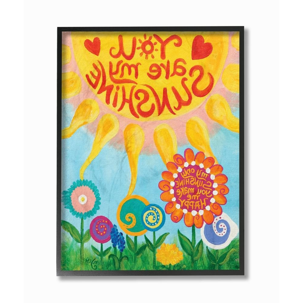 Well Known You Are My Sunshine Wall Art Pertaining To Stupell Industries 11 In. X 14 In (View 6 of 15)