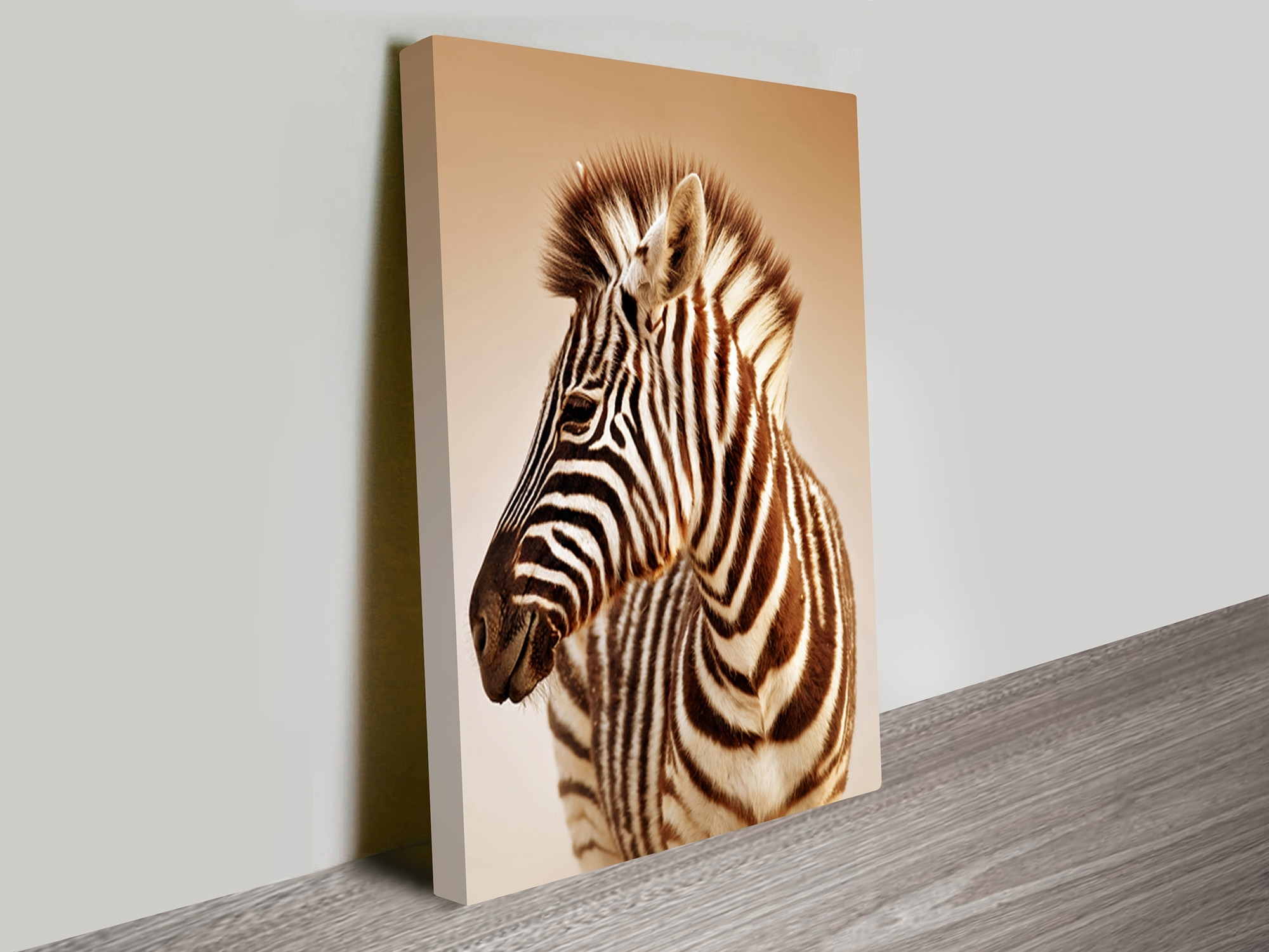 Well Known Zebra Canvas Wall Art With Regard To Zebra Sepia Canvas Wall Art Prints Wollongong (View 10 of 20)