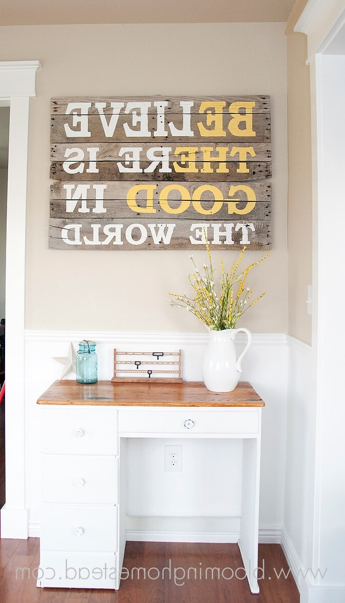Well Liked 36 Best Diy Wall Art Ideas (designs And Decorations) For 2018 In Wall Art Decors (View 8 of 15)