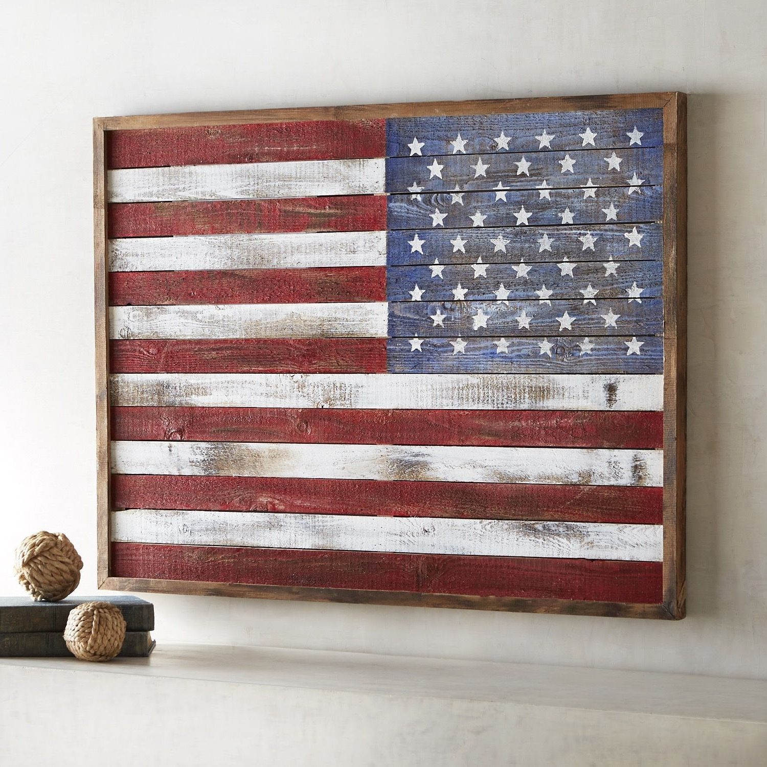 Well Liked American Flag Wall Art Within Shiplap American Flag Wall Decor (View 15 of 15)