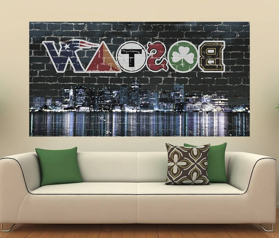 """Well Liked Awesome Boston Wall Graphic!! Get Yours Here """" Http://www.amazon Pertaining To Boston Wall Art (Gallery 1 of 20)"""