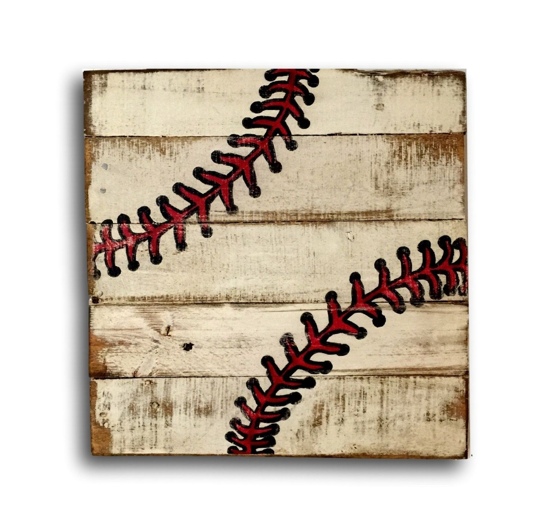 Well Liked Baseball Wall Art For Baseball Wall Art / Sports Decor/ Rustic Vintage Baseball Sign (View 20 of 20)