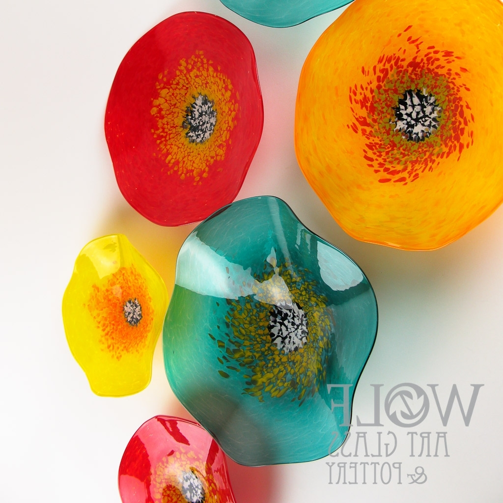 Well Liked Blown Glass Wall Art Throughout Blown Glass Wall Art, Glass Ornaments, And Blown Recycled Bottle (Gallery 8 of 20)